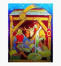 Nativity Candle Votive Photographic Print