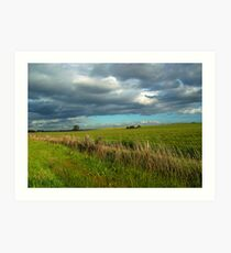 I think I can smell the rain on the grass Art Print