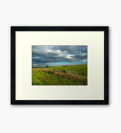 I think I can smell the rain on the grass Framed Print
