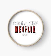 Netflix Hobby Clock