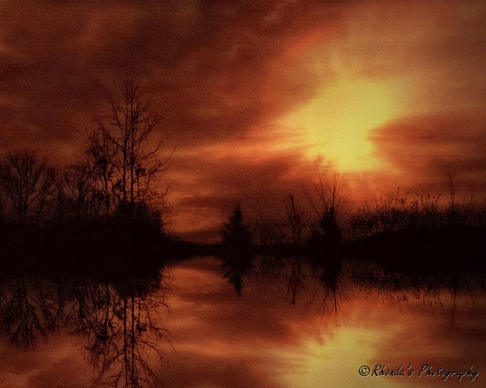 Reflected sunset.....  by Rhonda Ford
