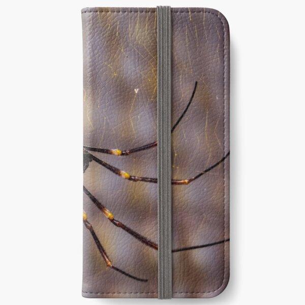 Golden Web Spider iPhone Wallet