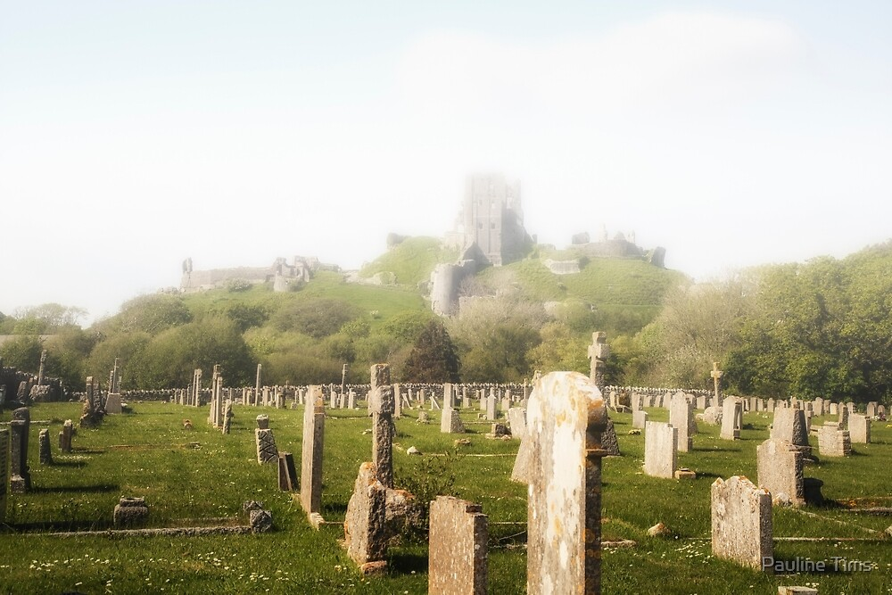 Corfe Castle in the MIst by Pauline Tims