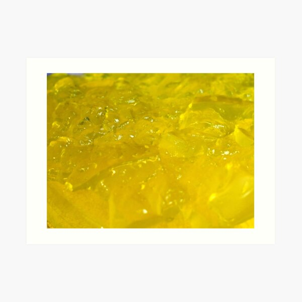 Yellow Jelly Jello Art Print