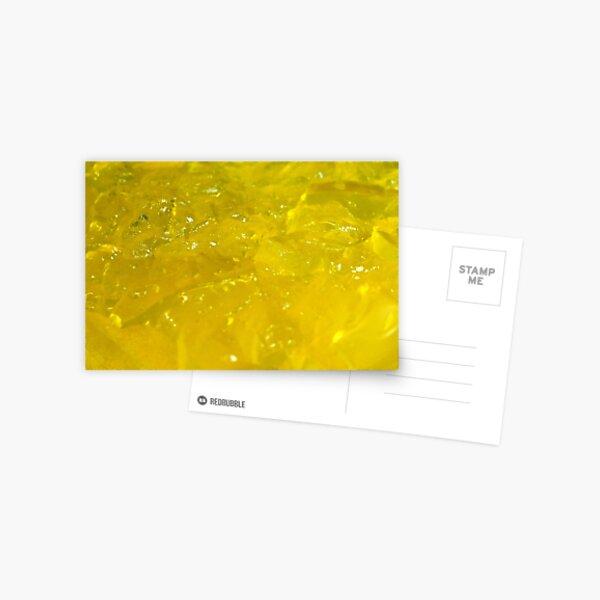 Yellow Jelly Jello Postcard