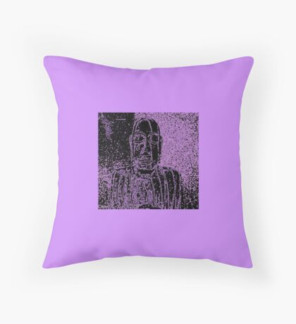 Karma in Lilac Throw Pillow