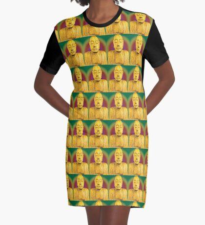 Wooden Budha  Graphic T-Shirt Dress