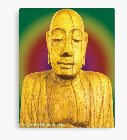 Wooden Budha  Canvas Print