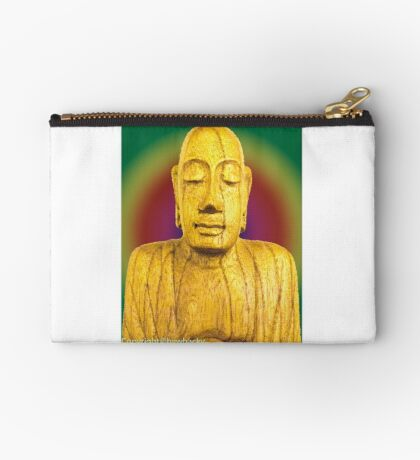 Wooden Budha  Studio Pouch