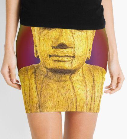 Wooden Budha  Mini Skirt