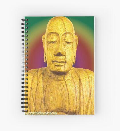 Wooden Budha  Spiral Notebook