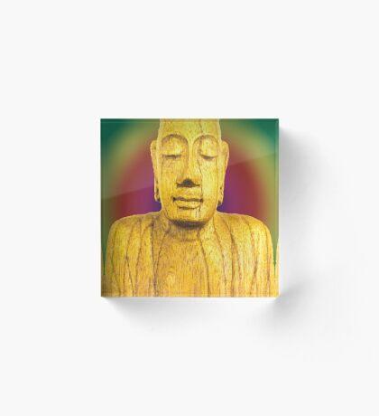 Wooden Budha  Acrylic Block