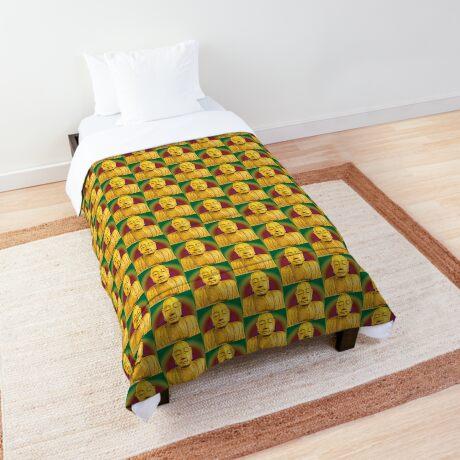 Wooden Budha  Comforter