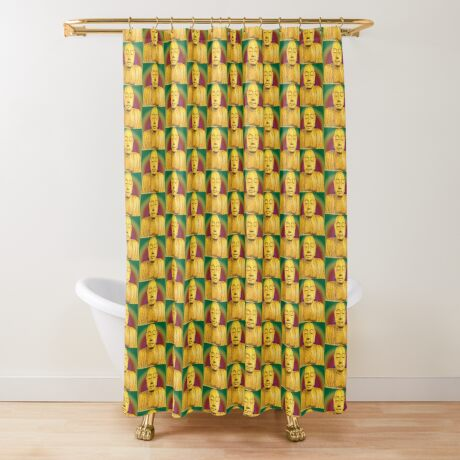 Wooden Budha  Shower Curtain
