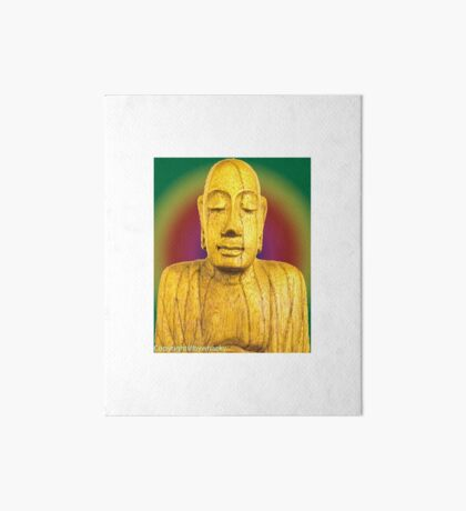 Wooden Budha  Art Board