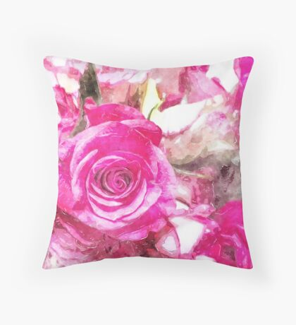 Roses Collection Watercolour Throw Pillow
