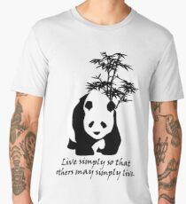 Live Simply So That Others May Simply Live Men's Premium T-Shirt