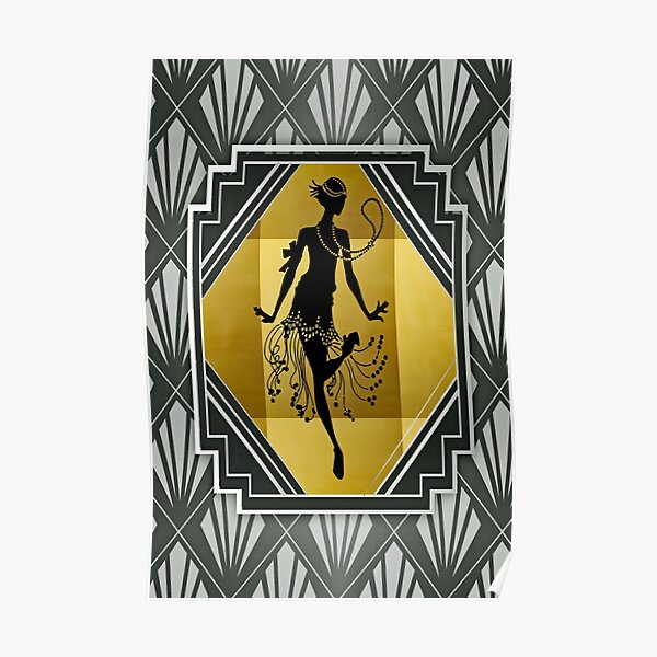 Art Deco Flapper Roaring 20er Jahre Gatsby Style Print Poster