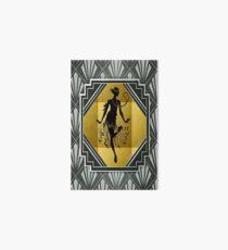 Art Deco Flapper Roaring 20's Gatsby Style Print Art Board