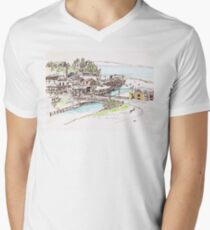 California Beach Town Men's V-Neck T-Shirt