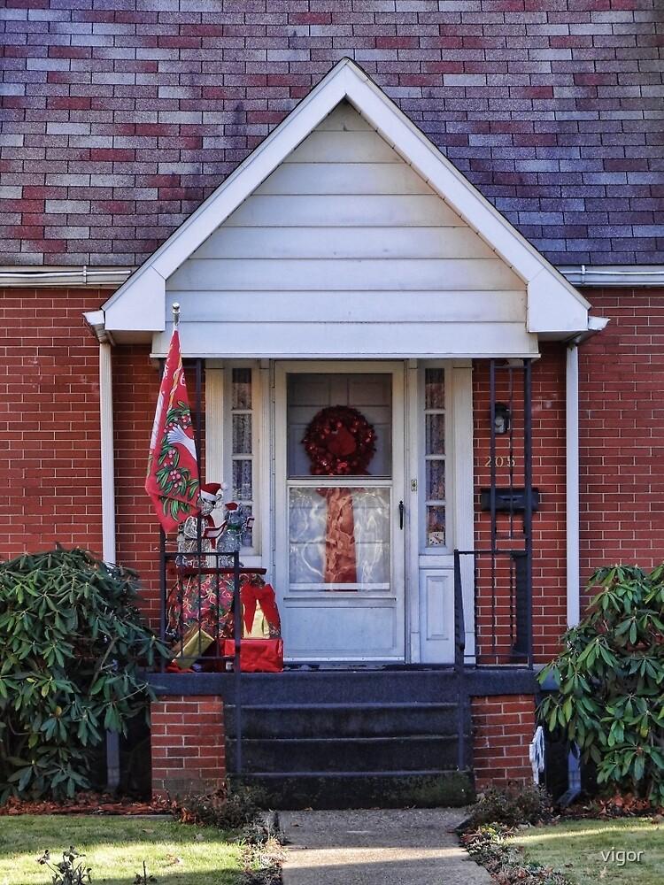 A festive door by vigor