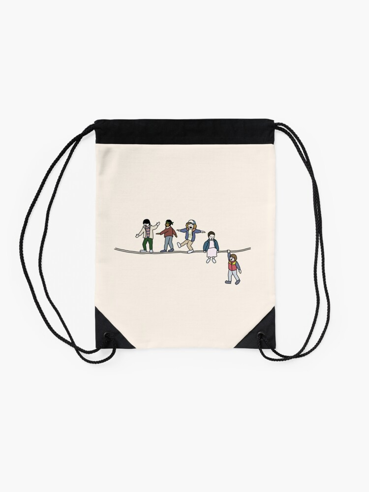 Alternate view of Stranger Things: The Acrobats and the Fleas Drawstring Bag