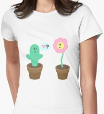 Cactus in Love  Womens Fitted T-Shirt