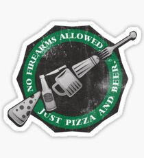 Just Pizza and Beer Sticker