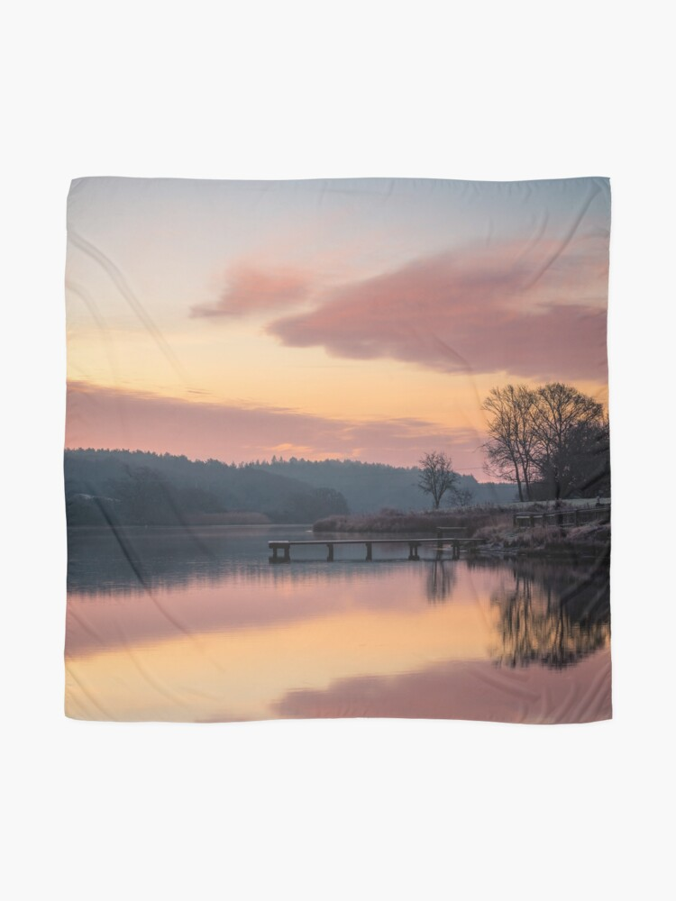 Alternate view of Dawn At The Old Millpond Scarf