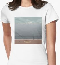0096 Perth skyline Womens Fitted T-Shirt