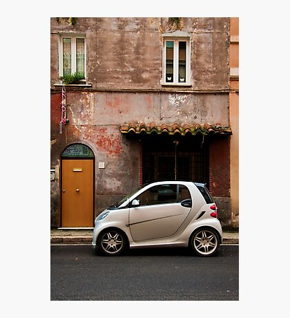 Smart Car in Rome Photographic Print