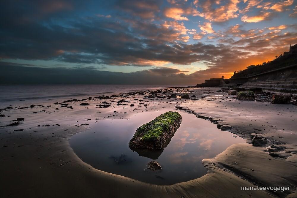 Rock Pool Sunset by manateevoyager