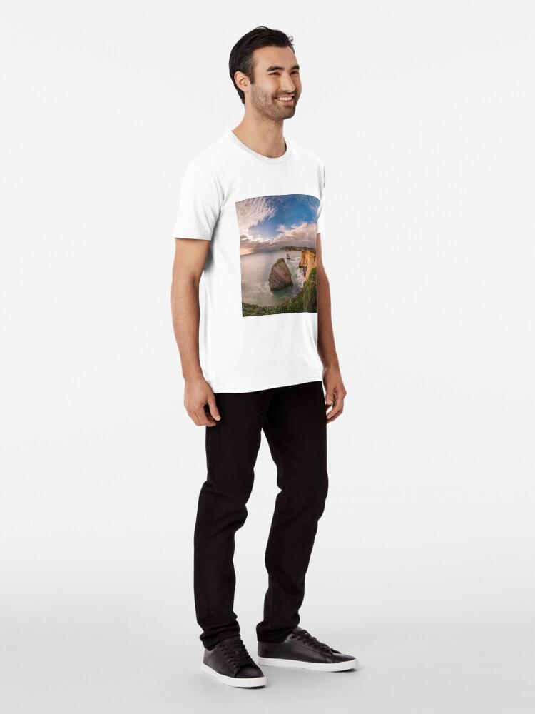 Alternate view of Freshwater Bay Panorama Premium T-Shirt