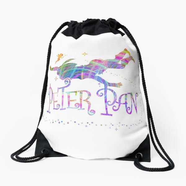Colorful Peter Pan Drawstring Bag