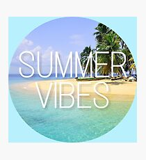 Cool hipster summer vibes ocean hippie print Photographic Print