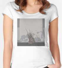 0102 Reeds growing through concrete Women's Fitted Scoop T-Shirt