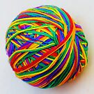 Rainbow Thread Ball by farmbrough