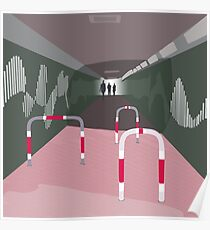 0104 Bicycle slow through tunnel Poster