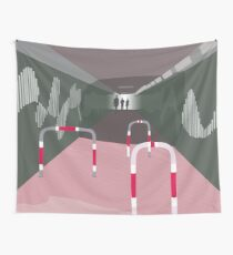 0104 Bicycle slow through tunnel Wall Tapestry