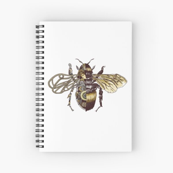 Clockwork Bee  Spiral Notebook