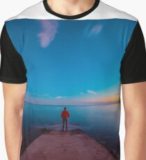 Sunset at the sea, Trieste Graphic T-Shirt