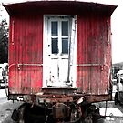 Caboose in Barn Red  by ArtbyDigman
