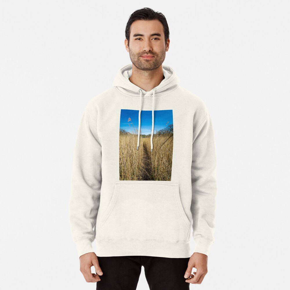 Pathway Through The Reeds Pullover Hoodie