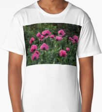 Shell Shaped Poppies Long T-Shirt