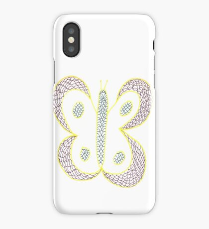 Flutterby edged in Sunshine iPhone Case/Skin