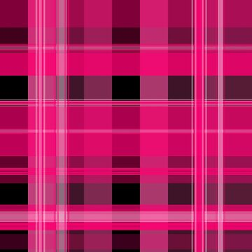 Pink and Black Plaid by PharrisArt