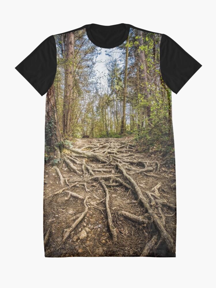 Alternate view of Spaghetti Junction Graphic T-Shirt Dress