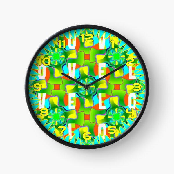 colourful spring summer gardening love green stuff Clock