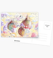 Three worlds Postcards
