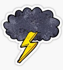 Lightning bolt cloud Sticker